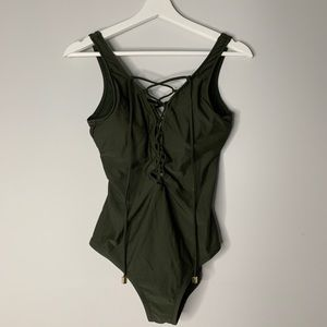One Piece with Criss Cross Detail